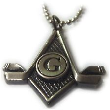 Masonic Hockey NHL York Scottish Rite Square Compass Freemason Pendant Necklace