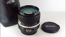 Nikon NIKKOR Ai-s 35mm f/2 Fast Wide-Angle Lens + Pouch & Caps. Great 'MINT-'.