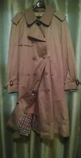 Mens Wool Lined Tan  Trench Coat , size 44