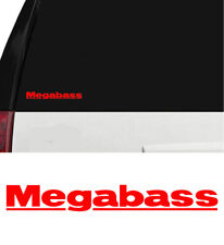 Megabass Fishing Lures Outdoors Sports Vinyl Decal Boat Window Cooler Red