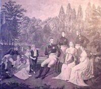 Holzstich - Friedrich Wilhelm III. - Charlottenburg - um 1870 -