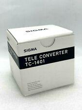 New SIGMA TC-1401 1.4x Teleconverter for NIKON F