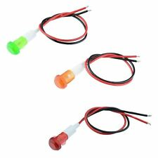 10mm Prewired Snap-In Panel Indicator Light 220V - Red Green Yellow
