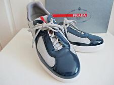 NIB $570 PRADA Men's Linea Rossa New America's Cup Sneakes Blue sz 8.5 Shoes