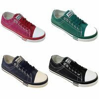 Men's Canvas Sneakers Jeans Lace Up Casual Shoes Denim Urban Stone-Washed, Sizes
