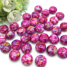 10pcs 16*16*10mm Rose Ellipse Crack Beads Spacer Bead For Jewelry Pendant #08