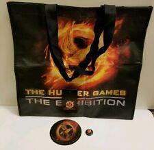 Lot of 3 Hunger Games Exhibition Jennifer Lawrence Tote Bag Pin 3D Lenticular