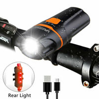 Rechargeable 5000LM XPE LED Front Bicycle Light Headlight Bike Rear Taillight