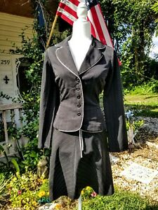 My Michelle Feminine Black Skirt Suit Size 7/8