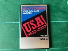 YAMAHA SY/TG55 VOICE DATA CARD 64 VOICES USA SOUND CHART VC5504 FREE SHIPPING!!