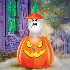 Airblown Inflatable Animated Peek-A-Boo Ghost In Pumpkin Halloween Decoration