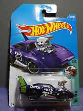 "Hot Wheels New 2017 ""TOONED"" PURPLE DODGE CHARGER DAYTONA, Tooned series 5/10."