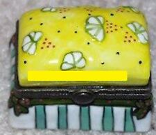 FOOTSTOOL in YELLOW -Porcelain Hinged Box-MATCHES OTHER FURNITURE-LAST ONE!