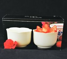 BNIB Studio Nova China White Scalloped Edge Dessert Bowls - Ramekins - Set of 2