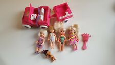 Power Wheels Kelly Jeep and Trailer in Full Working Order, 4 x Dolls and Baby