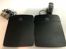 LOT of (2)  Linksys E1200 V2 300 Mbps 4-Port 10/100 Wireless N Network Router