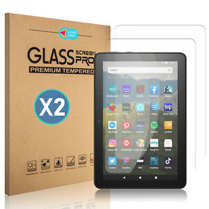 For Amazon Fire HD 8/Plus (10th Gen, 2020) Clear Tempered Glass Screen Protector