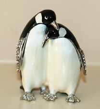 PENGUIN PAIR Trinket Box / Ornament Gift *NEW*