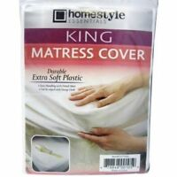 King Size Fitted Mattress Cover Waterproof Thin Plastic Vinyl Bed Protector