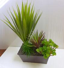 """Artificial Succulents Grass 12"""" Aloe With 5 Different Plants Graden Landscape"""