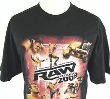 NWOT WWE RAW THE BEST OF 2009 CASUAL T SHIRT BLACK TEE AUTHENTIC