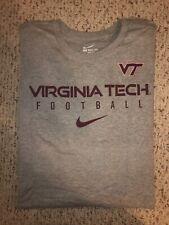 NEW Nike Virginia Tech Hokies Football Gray T-shirt *4XL*