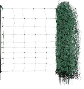 Green electric sheep netting 50M Fencing Fence Mesh Net Posts Rope
