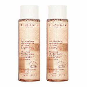 2X Clarins Cleansing Micellar Water 200ml,6.7oz Microbiote Complex Skin Cleanser