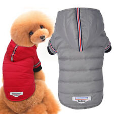 Small Puppy Dog Clothes Hooded Dog Coat Windproof Pet Jacket Winter Warm Padded