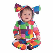 Amscan Elmer Hooded Cotton Romper - Age 9-12 Months