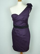 LIPSY PURPLE ONE SHOULDER DRESS - UK Size 10 Colour Purple ' Grape Juice'