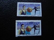 SUEDE - timbre yvert et tellier n° 2061 x2 obl (A29) stamp sweden