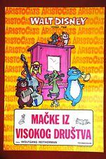ARISTOCATS WALT DISNEY 1970 VERY RARE EXYU MOVIE POSTER