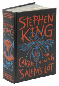 STEPHEN KING: Three Novels Carrie/Salem's Lot/Shining ~ LEATHER BOUND ~ SEALED ~