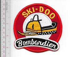 Snowmobile Ski-Doo Bombardier 1964 65 Promo Valcourt, QC Patch Medium Gold 4 in