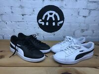 PUMA Smash V2 Sneakers Men's Shoes ~ White ~ Black