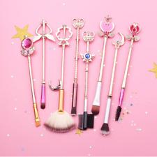 Sailor Moon 8Pcs Make Up Brushes Set Face Powder Contour Foundation Brush Makeup