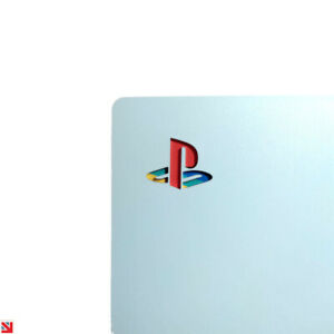 PLAYSTATION PS5 CLASSIC RETRO LOGO DECAL STICKER VINYL x 2