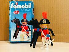 Playmobil famobil vintage 1978 boite Pirate 3387 Officier de la garde cheval
