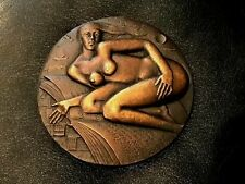 """KAUKO RASANEN 1982 """"Jansson"""" Bronze Art Medal 70 mm 350 gr COA / N123"""