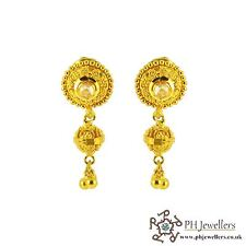22ct 916 Hallmark Yellow Gold Dangle Earrings TE45