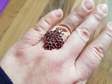 4.05ct Nampula Garnet Sterling Silver Ring by Gemporia Size N-O