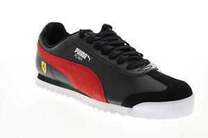 Puma Scuderia Ferrari Roma Mens Black Motorsport Inspired Sneakers Shoes 7