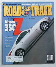ROAD & TRACK CAR MAGAZINE 2001 DECEMBER NISSAN 350 Z FAIRLADY NISMO