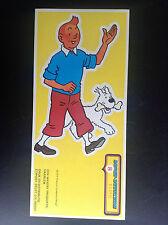 RARE autocollant strip stikers Tintin 1975 ETAT NEUF