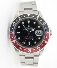 """.Auth 2002 Rolex GMT Master II """"Coke"""" Steel Watch Full Set Box Papers Tags 16710"""