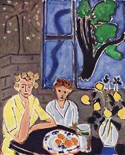 "WOW Henri  MATISSE 1948 Antique Print ""Two Girls Blue Window"" Framed SIGNED COA"