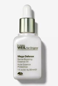 Dr Andrew Weil Origins MEGA DEFENSE Barrier Boosting Essence Oil 1 oz 30ml NIB