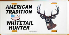 American Tradition-Whitetail Deer Hunter-License Plate