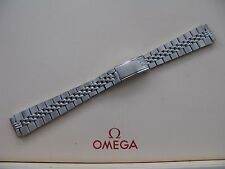 Brand New Omega 14mm Stainless Steel Bracelet No. 5895/156 with Flat End Pieces